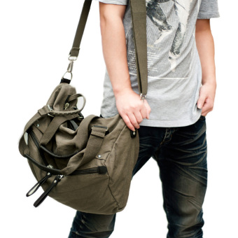 Zuo seng travel casual bag men's bag (Washed coffee)
