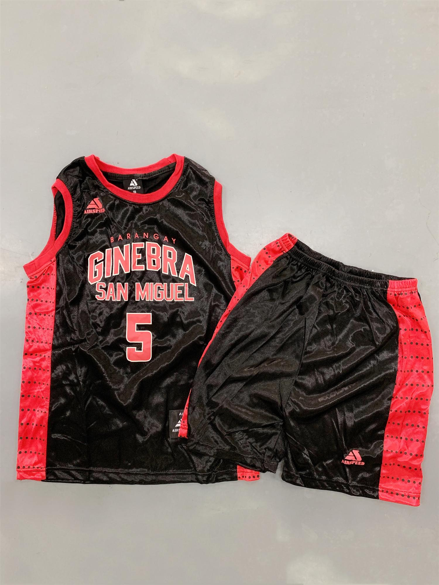 NBA Terno Set Ginebra san miguel 5 Swingman Jersey Embroidery High Quality  Class A Breathable Sports Basketball