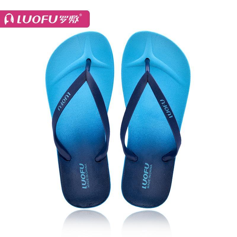... LUOFU Sandal Jepit wanita musim panas Anti Selip sol datar dengan jepit kaki papan jepit modis ...