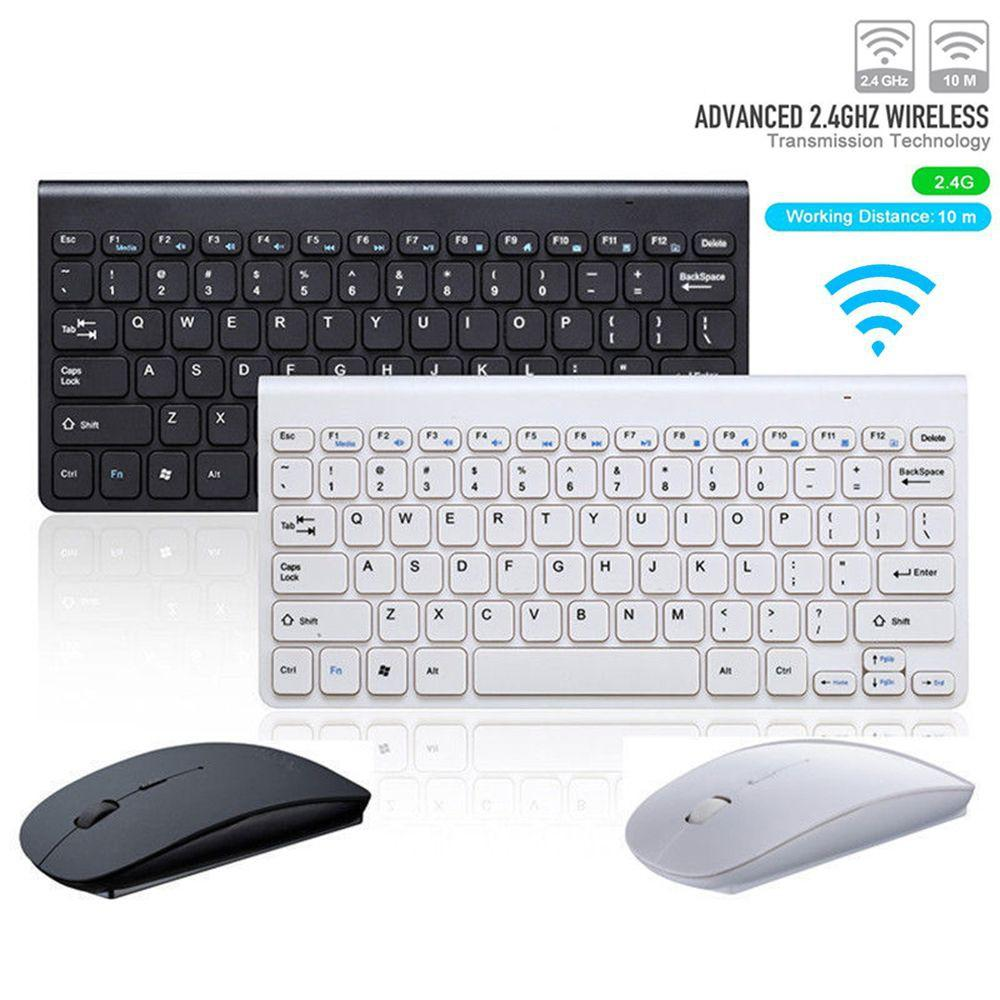 SM Cybermart Ultra Slim Silent Wireless 2 4GHz Mini Keyboard and Mouse Set  with USB Bluetooth Receiver for PC Laptop Android Smart TV ( No More Tired