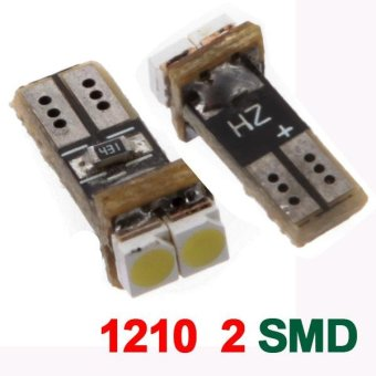 0.1W T5 2*1210 Vehicle Decoration Turn Light White Bulbs 12V - intl