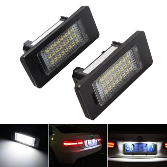 1 Pair 3W Car Error 24 LED License Number Plate Light Lamp For BMW