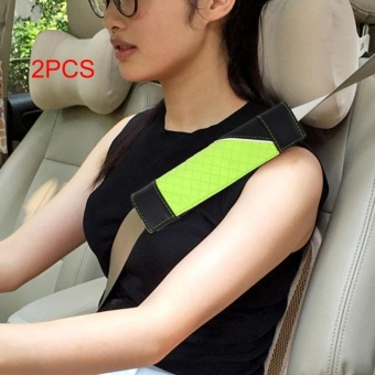 1 Pair Car Seat Belt Covers Seat Belt Pads Strap ShoulderPad(Green) - intl