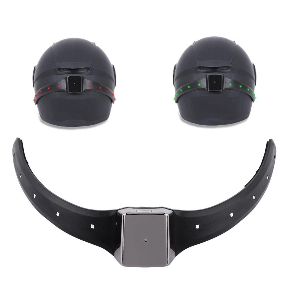 ... 1 x Wireless Motorcycle Motorbike Helmet LED Safety Light TurnSignal Warning Brake Lightbar - intl ...