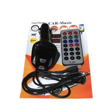 10 IN 1 Car-Music Car Kit MP3 Player FM Modulator Remote SupportIphone and Android Phone Charge With USB SD TF Slot (Black)
