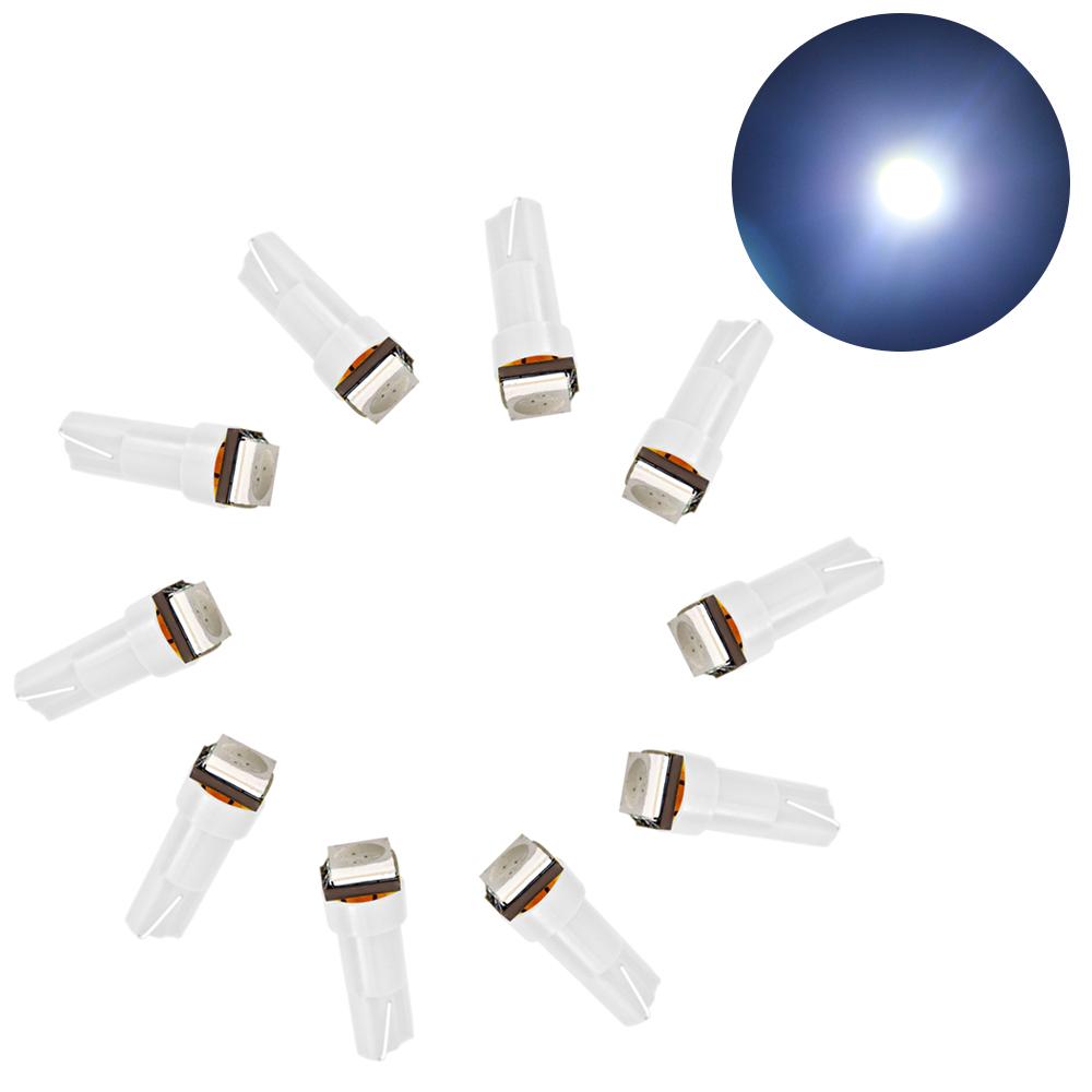 ... 10 Pcs T5 5050 Car Dashboard Light LED Vehicle Interior LightInstrument Cluster Lamp Indicator Lights White ...
