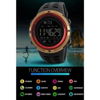[100% Genuine]2017 NEW Men's Smart Sport Watch New SKMEI BrandBluetooth Calorie Pedometer Fashion Watches Men 50M WaterproofDigital Clock Wristwatch 1250 - intl - 4