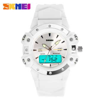 [100% Genuine]Skmei Casual Wristwatches Digital & Analog Multifunction Quartz Watch 30m Waterproof Student Sports Watches for Women Men Clock