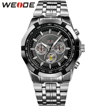 [100% Genuine]WEIDE Men Sport Watches Men's Quartz Watch Military Diver Full Steel Luxury Brand Fashion Army Wristwatches 1010 - intl Price Philippines