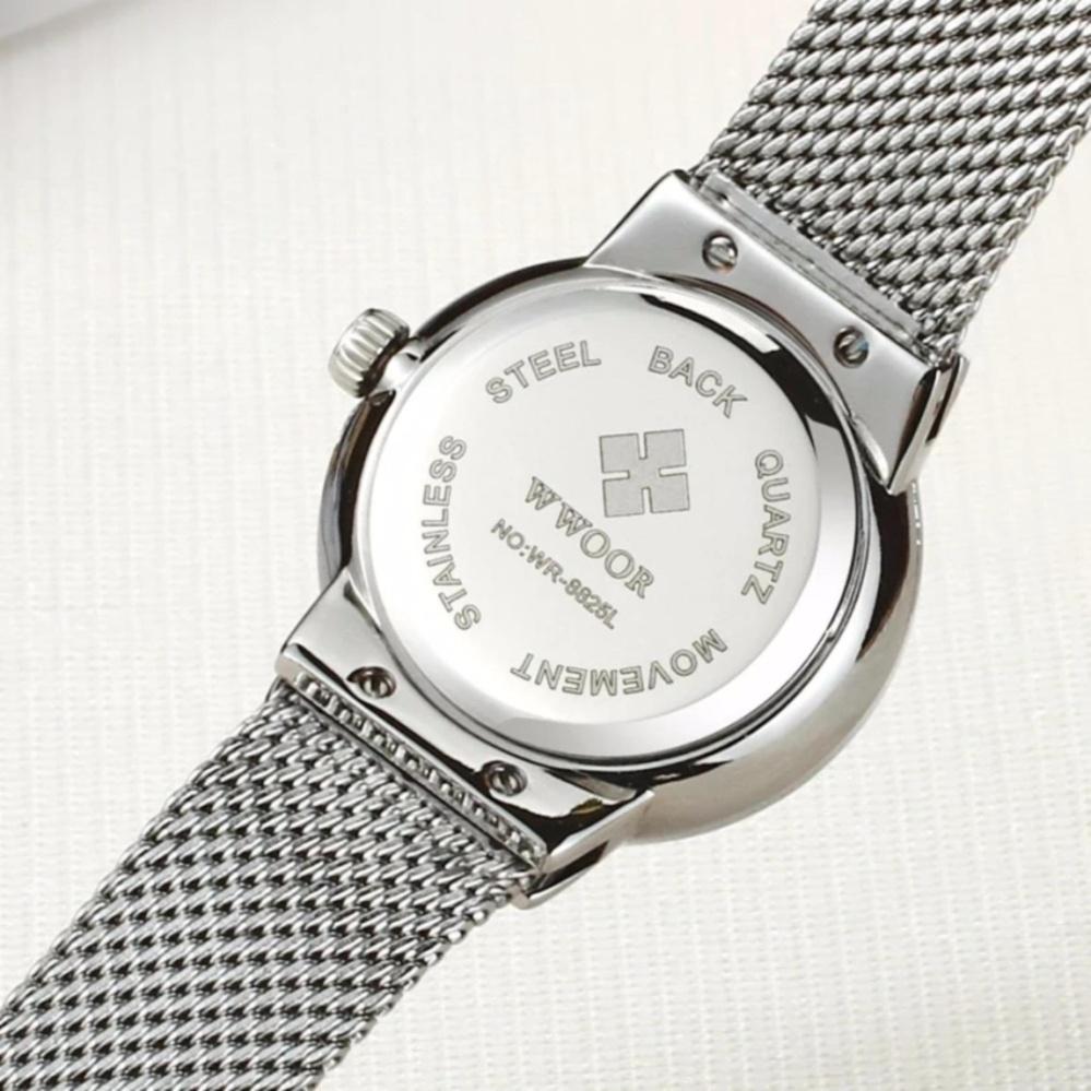 [100% Genuine]WWOOR Waterproof Quartz Watch Women's Watches BrandLuxury Diamonds Casual Wrist Watch ...