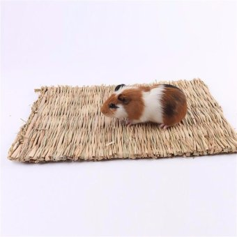 100% Hand Made Woven Grass Mat for Rabbits Cages for a HamstersNatural Small Pet Nest Bed Warm Straw Totoro Guinea Pig Animal -intl