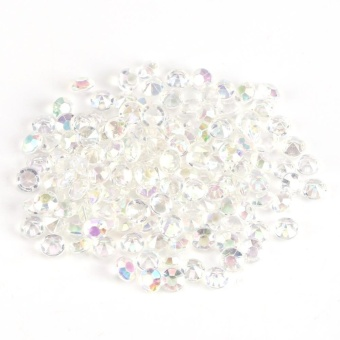 1000Pcs/Bag 4.5mm Clear Acrylic Beads Vase Filler Wedding Party Decor DIY Accessories Colorful - intl