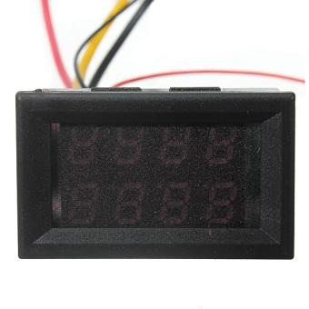 100V 100A DC Car Auto Digital Voltmeter Ammeter LED Amp Volt Meter 12V w/shunt - 4