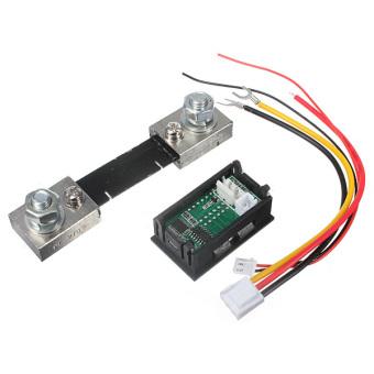 100V 100A DC Car Auto Digital Voltmeter Ammeter LED Amp Volt Meter 12V w/shunt - 2