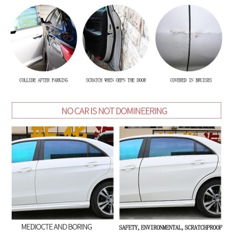 10m Car Styling Door Protection Strips Rubber Edge Doors Moldings Side Protector Sticker Scratches Vehicle for Cars Auto Car-styling(White) - intl - 4