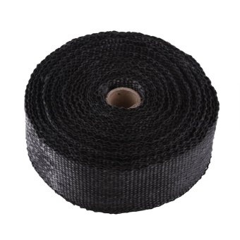 10M Motorcycles Exhaust Pipe Heat Wrap Manifold Covers Insulation Roll Tape Glass Fiber (Black) - intl