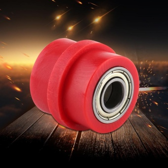 10mm Drive Chain Pulley Roller Slider Tensioner Wheel Guide ForStreet Bike Motorcycle ATV Red - intl