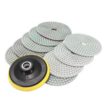 10PCS 4'' Inch Diamond Wet/Dry Polishing Pads For Granite Marble Concrete Stone - intl - 5