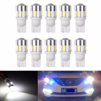 10Pcs T10 W5W 168 194 SMD LED Car Wedge Side Light Bulb Lamp For Car - intl