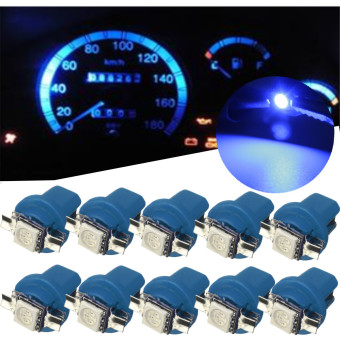 10PCS T5 B8.5D Car Gauge 5050 1SMD LED Speedo Dashboard Dash Side Light Bulb 12V Blue - Intl