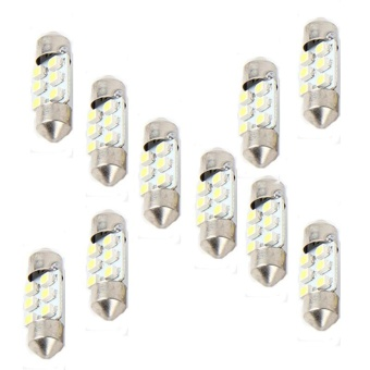 10x 31mm White 6SMD Car LED Light Bulbs Interior Festoon Dome MapLamp - intl Price Philippines