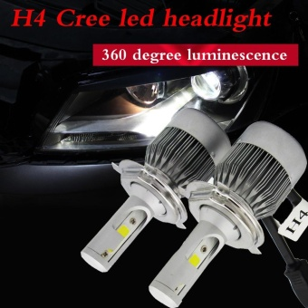 110W 7600LM H4 CREE LED Light Headlight Kit Car Hi/Lo Beam Bulb Kit 6000k 12V - intl