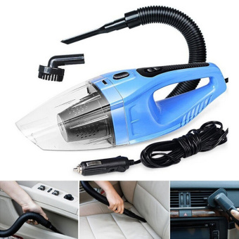 120W Portable Car Vacuum Cleaner 12V Wet And Dry Dual Use with AutoCigarette Lighter Hepa Filter(Blue) - intl