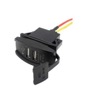 12V 24V Dual USB Charger Power Adapter (Black) - picture 2