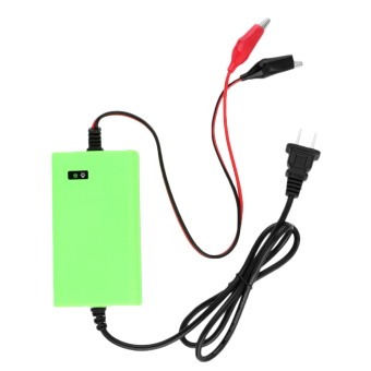 12V 2A Voltage Rechargeable Battery Power Charger 220V AC forMotorcycle Green (Intl) - 4