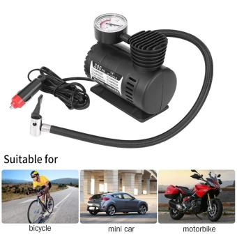 12V 300 PSI Portable Emergency Mini Air Compressor Electric Car/Motorcycle Tire Infaltor Pump - intl
