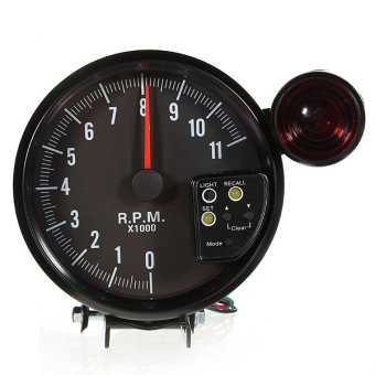 "12V 5"" ADJUSTABLE 7-COLOR LED TACHOMETER GAUGE 11K RPM TACH METER + SHIFT LIGHT - intl Price Philippines"