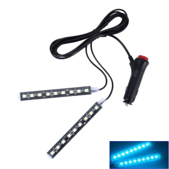 12V Car Atmosphere Lights Waterproof 2 Pieces Light Strips FlexibleLED Auto Interior Decoration Floor Lamp Lighting Kit - intl