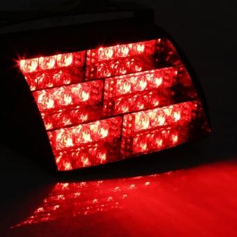 12V Car Police Strobe Lamp 18 LEDs Dash 3 Flash Lights Red - intl - 5