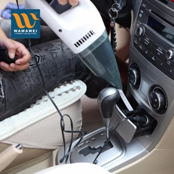 12V Car Use Vacuum Cleaner Vehicle Auto Wet Dry Dual-use PortableHandheld Car Cleaner (White)