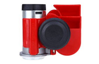 12V Snail Compact Air Horn for Cars and Motorcycle (Red)