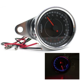 12V Universal Motorcycle Tachometer Meter LED Backlight 13K RPMShift.