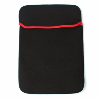 """14"""" Double Faced Laptop Pouch Sleeve Black"""
