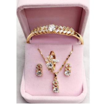 14k Bangkok Gold Crystal Jewelry Set Price Philippines