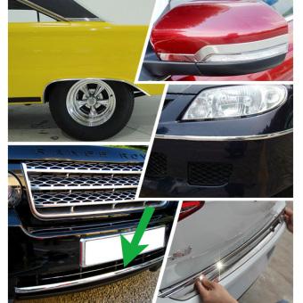 15M 6mm Car Auto Chrome Moulding Trim Strip For Window Bumper Grille Silver - 5