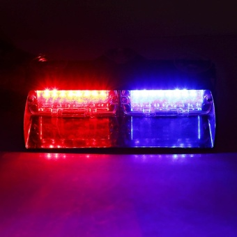 16 LED 16W Super Bright Windshield Emergency Flash Light Red & Blue - intl