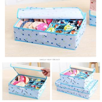 17 Cell Socks Underwear Ties Drawer Closet Home Organizer StorageBox Case (Pink Cherry) - intl - 5
