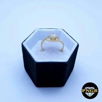 18K Gold Engagement Ring with Russian Stone