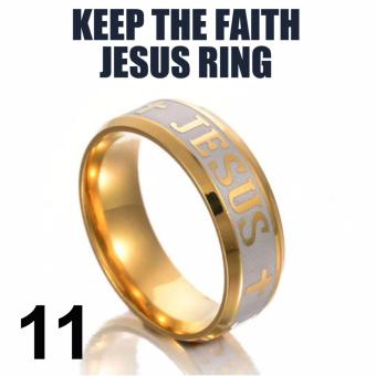 18k Gold Plated Jesus Ring (Keep The Faith) SIZE 11