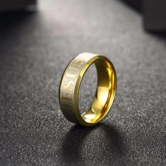 18k Gold Plated Jesus Ring (Keep The Faith) SIZE 5 - 4