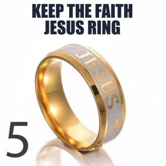 18k Gold Plated Jesus Ring (Keep The Faith) SIZE 5