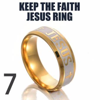 18k Gold Plated Jesus Ring (Keep The Faith)SIZE 7