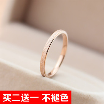 18kHan version female rose gold joint ring (Matte silver 4 No.)