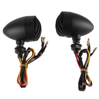 1Pair Motorcycle Black Grill Turn Signal Brake Stop Running Tail Lights - intl - 5