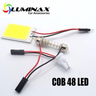 1pc 48COB Universal LED Dome light for Interior Reading Light LampCar Interior Lamp LED bulbs Car Styling for toyota honda ford mazdanissan kia chevrolet bmw isuzu suzuki