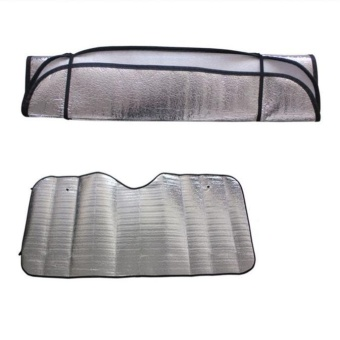 1Pc Casual Foldable Car Windshield Visor Cover Front Rear BlockWindow Sun Shade - intl